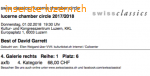 Best of David Garrett, 1.2.2018, Luzern, KKL, 2 Tickets
